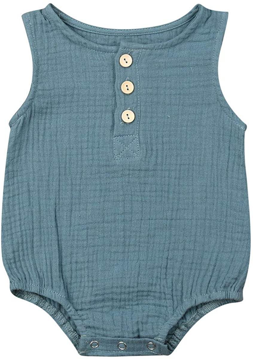 Newborn Baby Girl Boy Jumpsuit Romper Cotton Button Down Short One Piece Bodysuit Onesie Newborn Boy Clothes