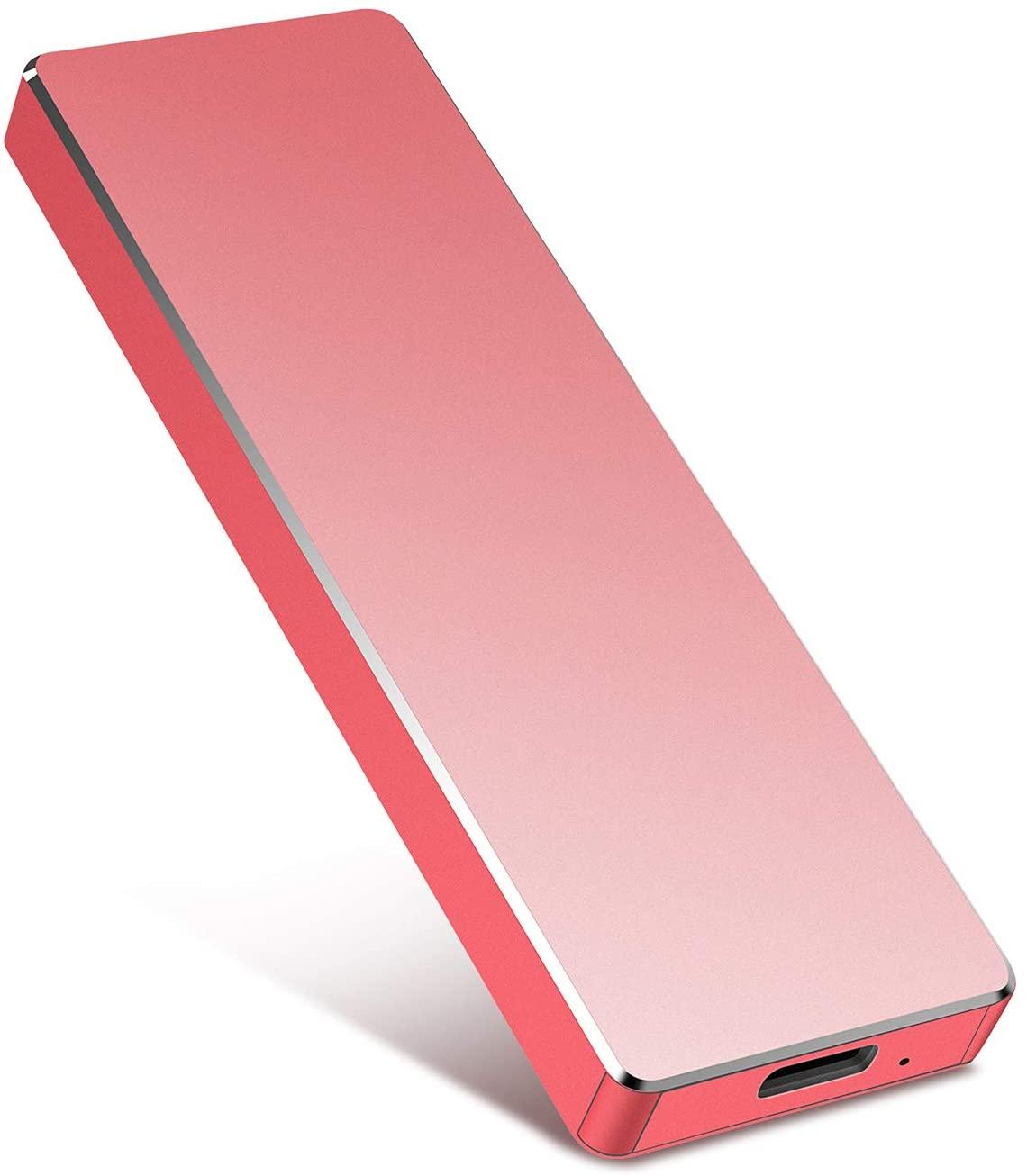 Portable External Hard Drive 1TB 2TB Portable Hard Drive External Type C USB3.1 HDD Storage Compatible for Mac, PC, Desktop, Laptop, Xbox One (Red,1TB)