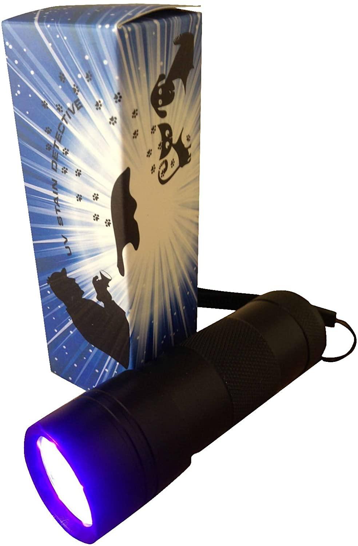 UV Stain Detective LED Blacklight for detecting cat, dog & rodent urine