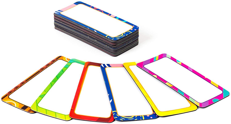Dry Erase Magnetic Labels Name Plates More 30PCS/ New Color/Slim / 3.5
