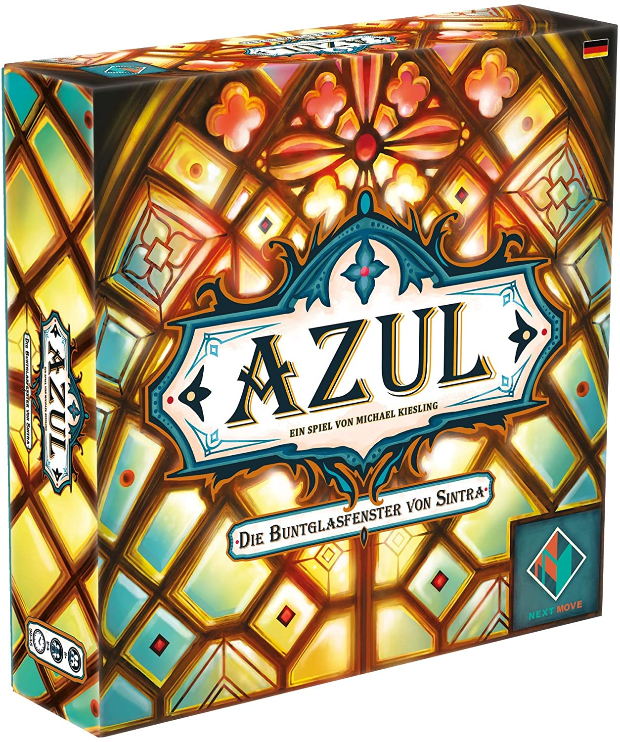 Next Move Game 54807G Azul-Die Stained Glass Window by Sintra, Multi-Colour