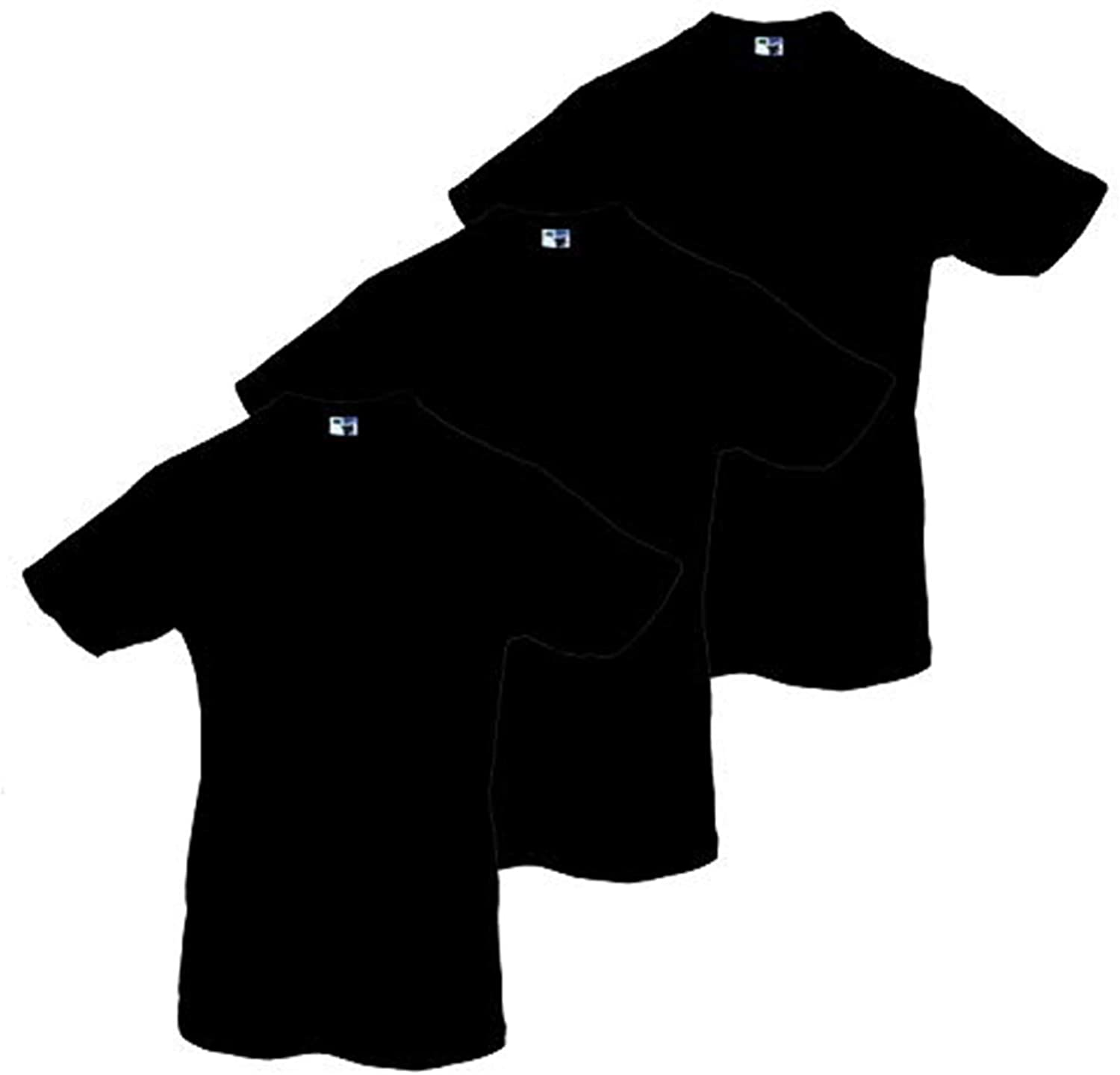 Phat Doc 100% Cotton Super Soft Quality Short Sleeve Crew-Neck Solid Plain T-Shirt for Larger and Taller Men (3-Pack)