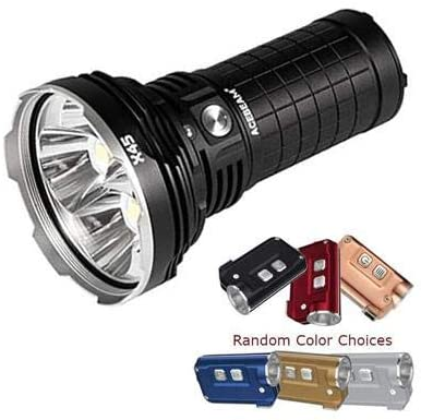 Combo: Acebeam X45 CREE XHP70 LED Flashlight -Optional Cool or Neutral White w/Tini Keychain Light -380 Lumens w/color options