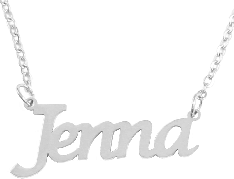 Kigu Jenna Custom Name Necklace Personalized - Silver Tone