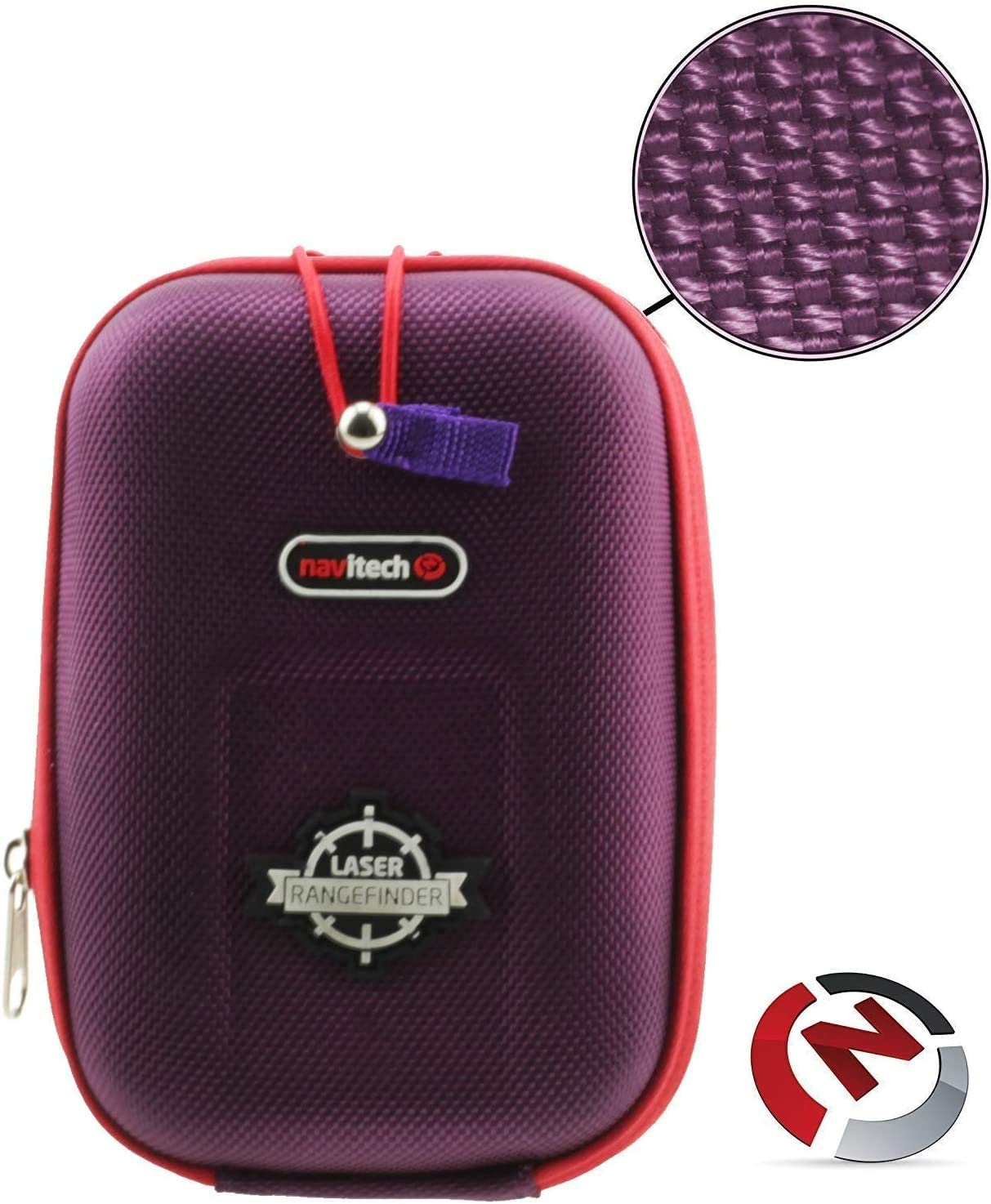 Navitech Purple EVA Rangefinder Hard Case/Cover with Carabiner Clip Compatible with The TecTecTec VPRODLX Golf Rangefinder