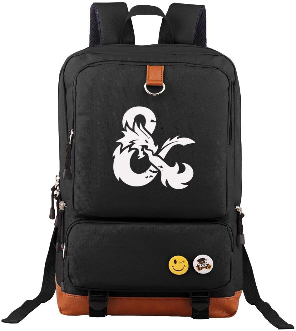 Ausan Davis Dungeons and Dragons Backpack Outdoor Hiking Daypacks Laptop Backpacks Vintage School Bag for Men Women Travel Bags