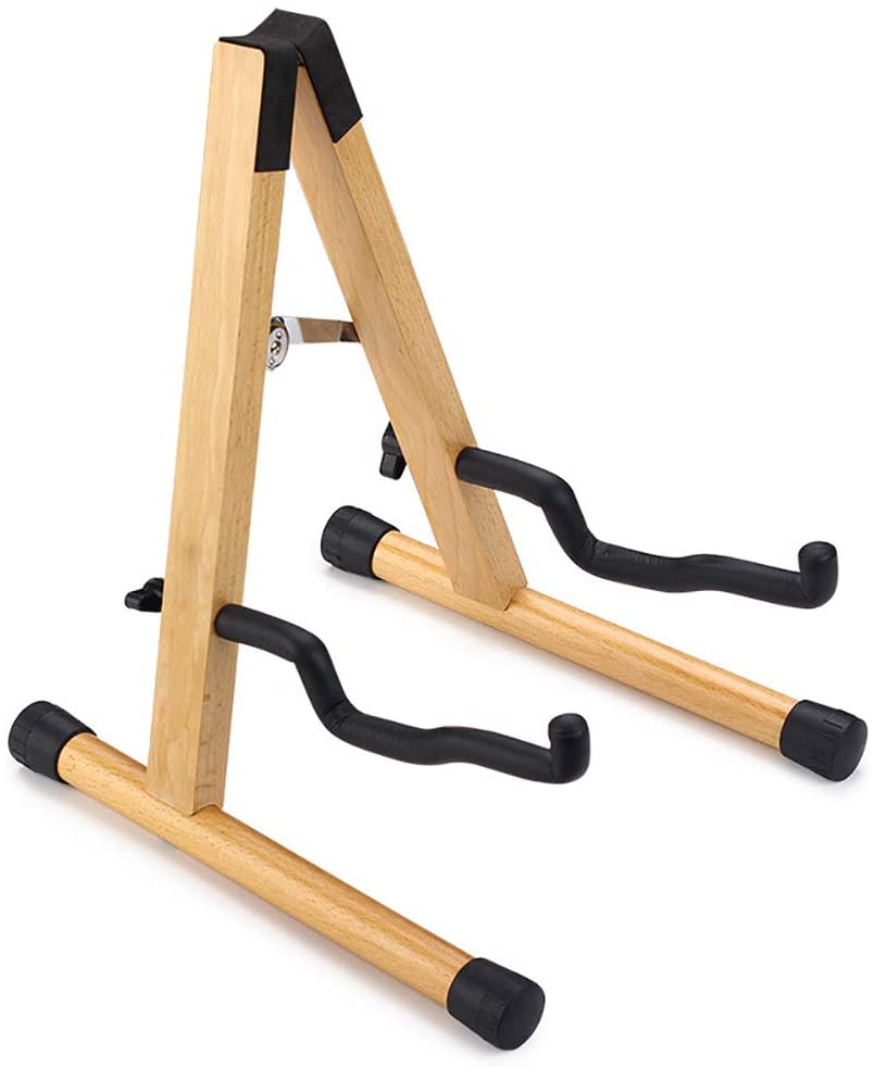 Wxnnx Guitar Stand, Wood Acoustic Guitar Stand, Bass Banjo Guitar Stand, Portable Guitar Stand Holder Used for A Variety of Guitars
