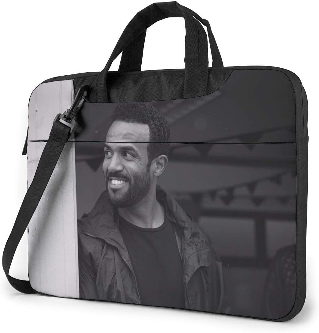 N/C Craig David Waterproof Laptop Shoulder Messenger Bag, Computer Protective Case, Briefcase, Unisex, Exquisite Style.15.6 Inch