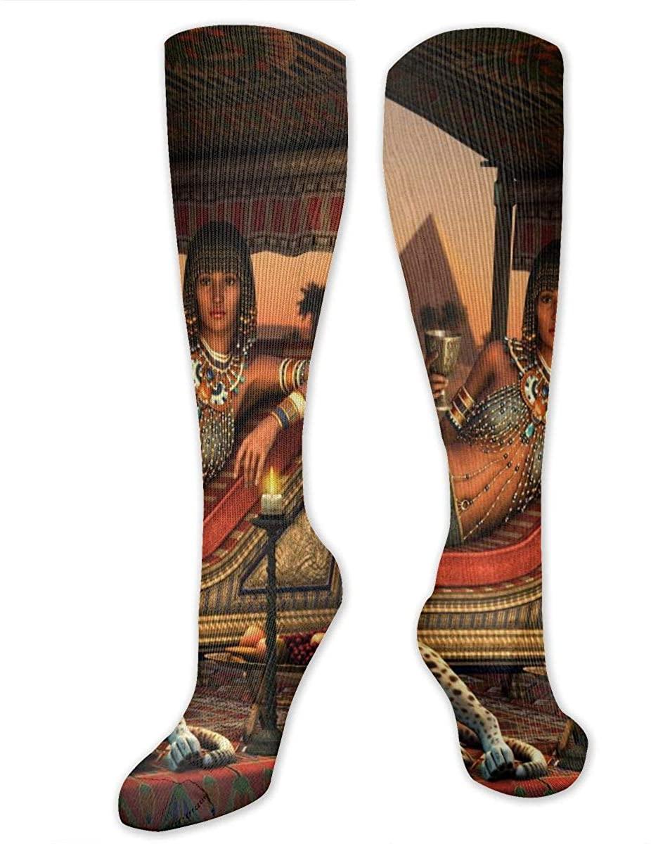 Ancient Egyptian Lady Athletic Socks Thigh Stockings Over Knee Leg High Socks