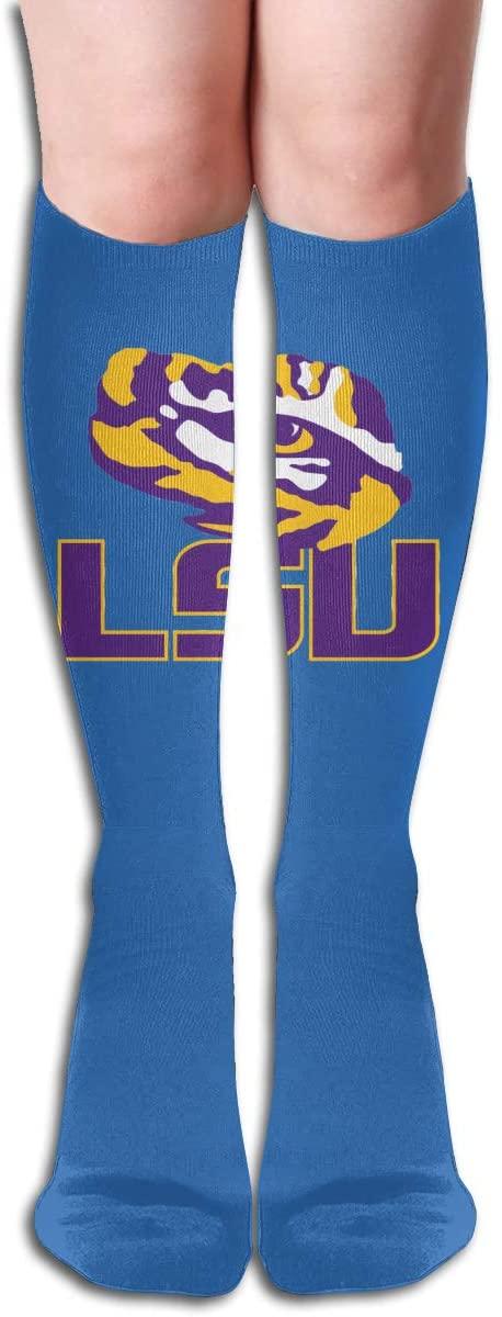 LSU Men's/Women's Comfortable Casual Funny Long Knee High Socks Compression Socks Winter Warm Soccer Socks