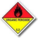 UN Organic Peroxide 5.2 (ADR & UN Compliant Sticker) - Quantity: 25-100mm x 100mm Diamond - by Inoxia
