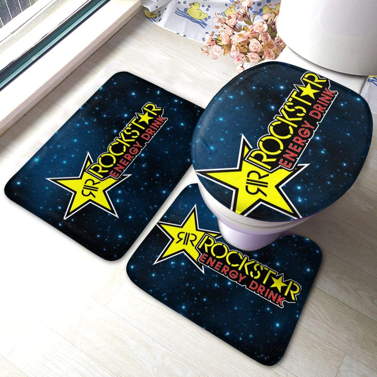 HowaWler Rockstar Energy Drink Super Soft Door Mat Non-Slip Bathroom Carpet Entrance Mat Set of 3