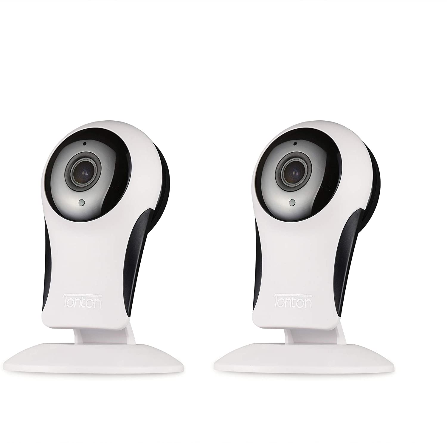 [2 Pack] Tonton 1080p Wireless Home Indoor IP Camera,2-Way Audio,Smart Motion Detection,Night Vision for Baby/Pet/Elder Monitoring,Remote Control with Free APP,Cloud Service Available