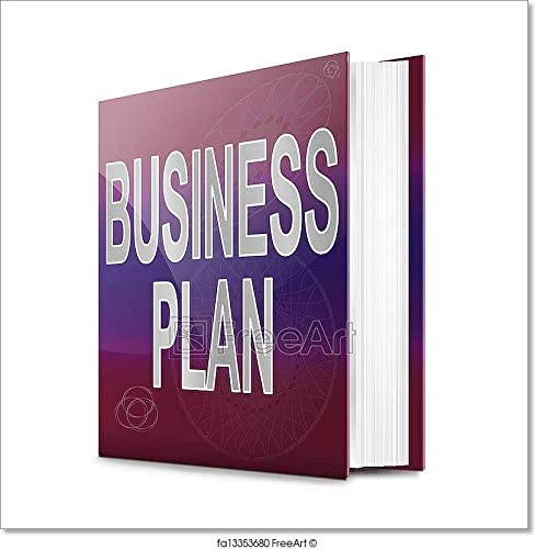 Business Plan Concept. Paper Print Wall Art (12in. x 12in.)