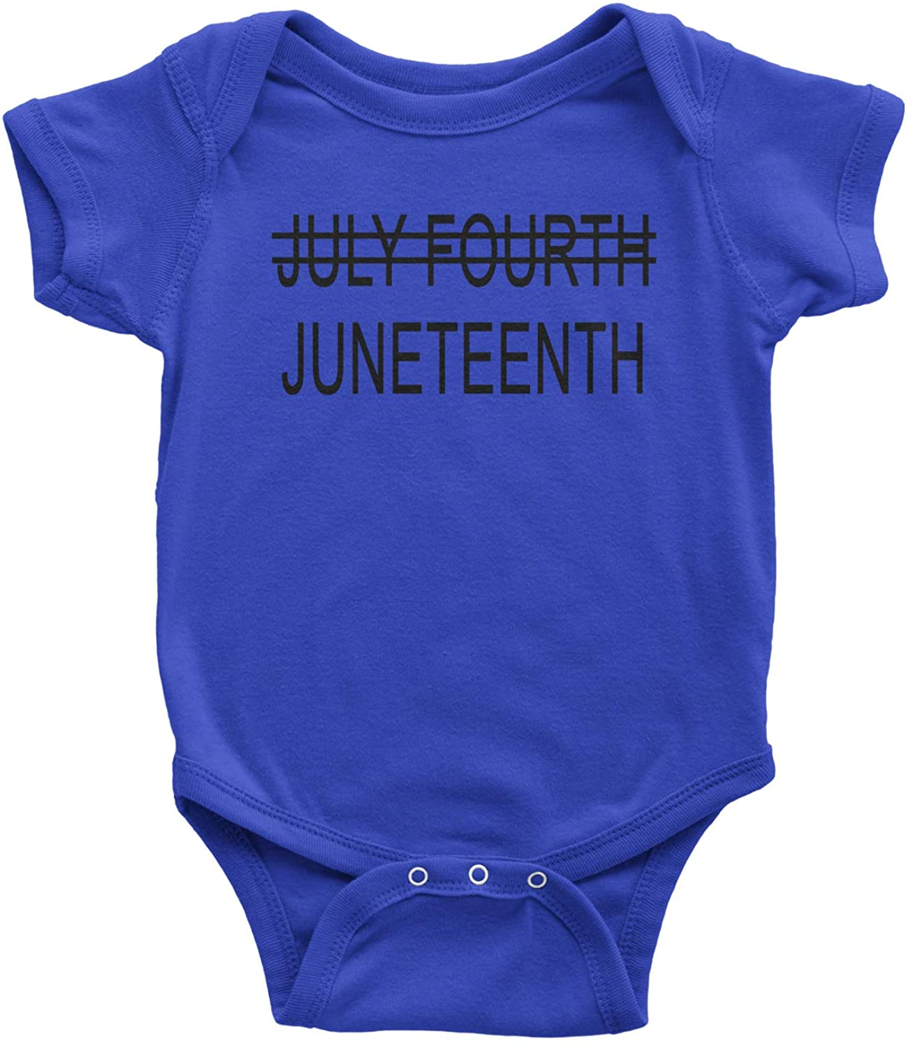 Expression Tees Juneteenth (July Fourth Crossed Out) Infant One-Piece Romper Bodysuit
