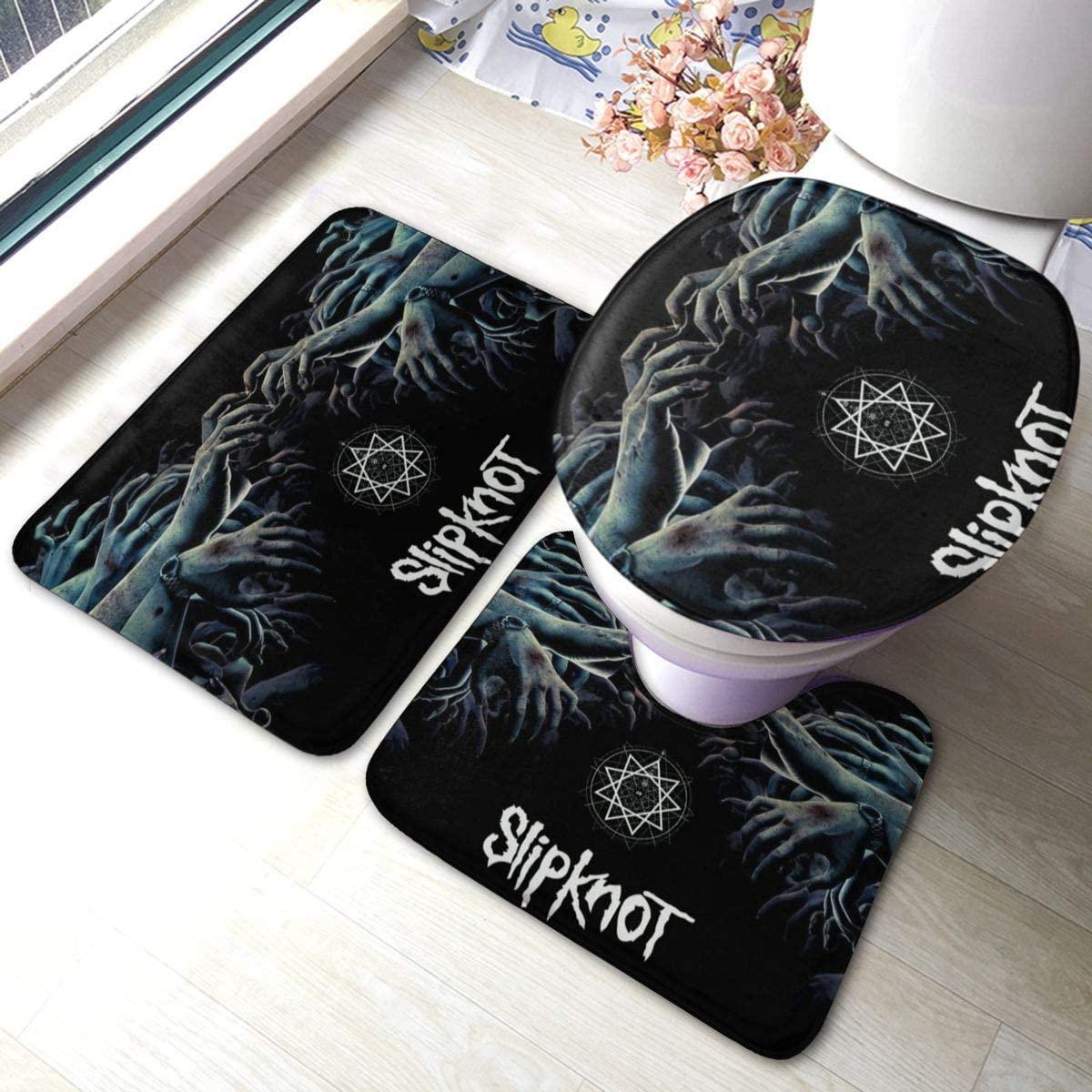 PTERTRANS Slipknot Bath Rug Sets 3-Piece, Bathroom Soft Non Slip and Absorbent Bath Mat Set, Carpet, Floor Mat