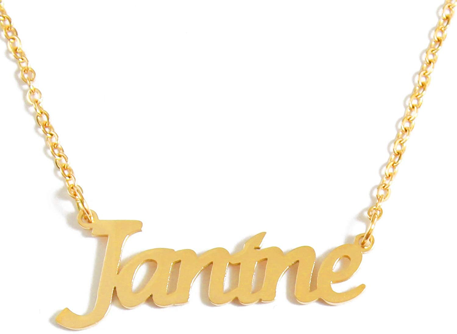 Kigu Janine Custom Name Necklace Personalized - 18ct Gold Plated