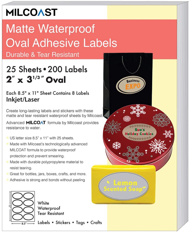 Milcoast Matte Waterproof Tear Resistant White Blank Adhesive 2