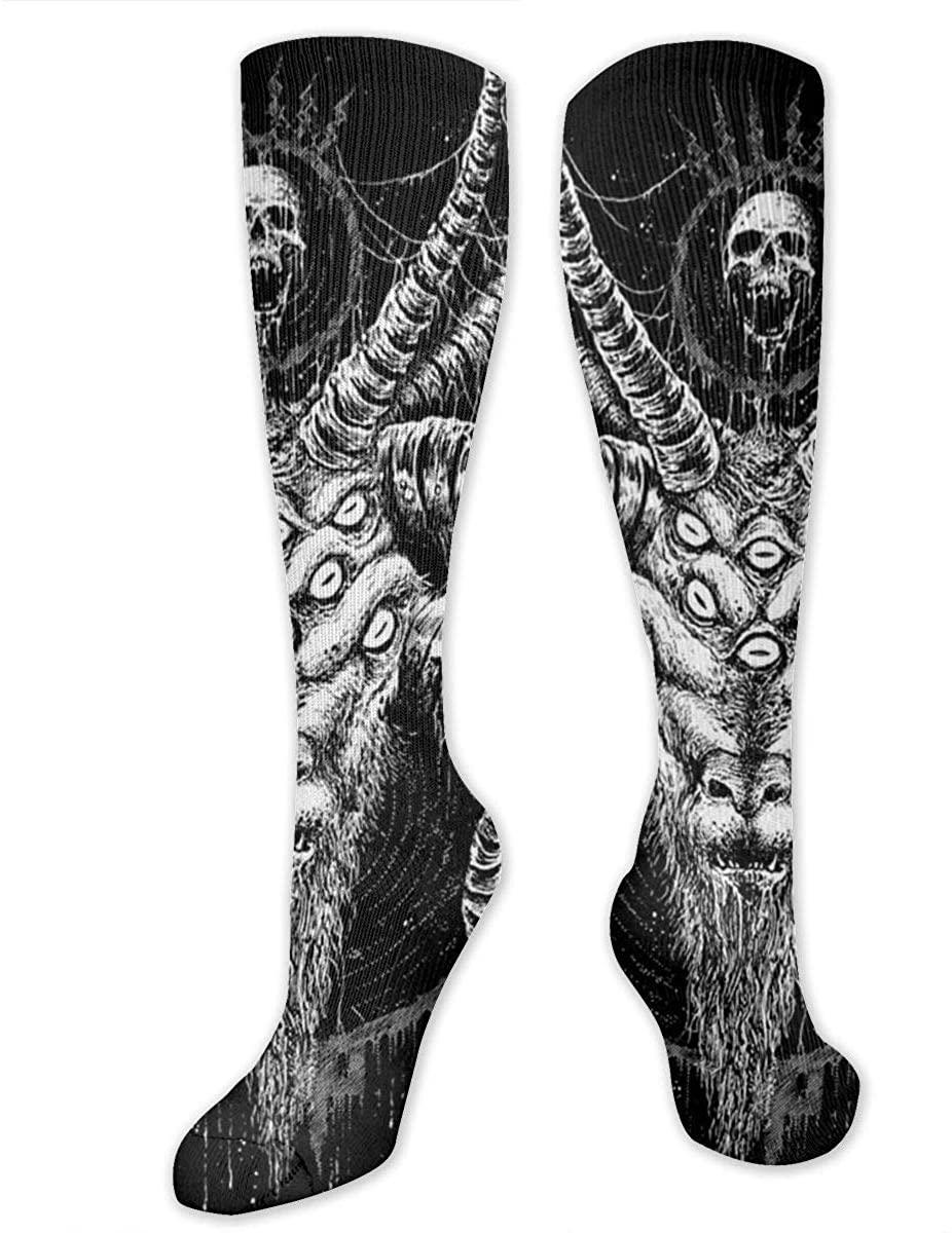 Baphomet Satan Goat Athletic Socks Thigh Stockings Over Knee Leg High Socks