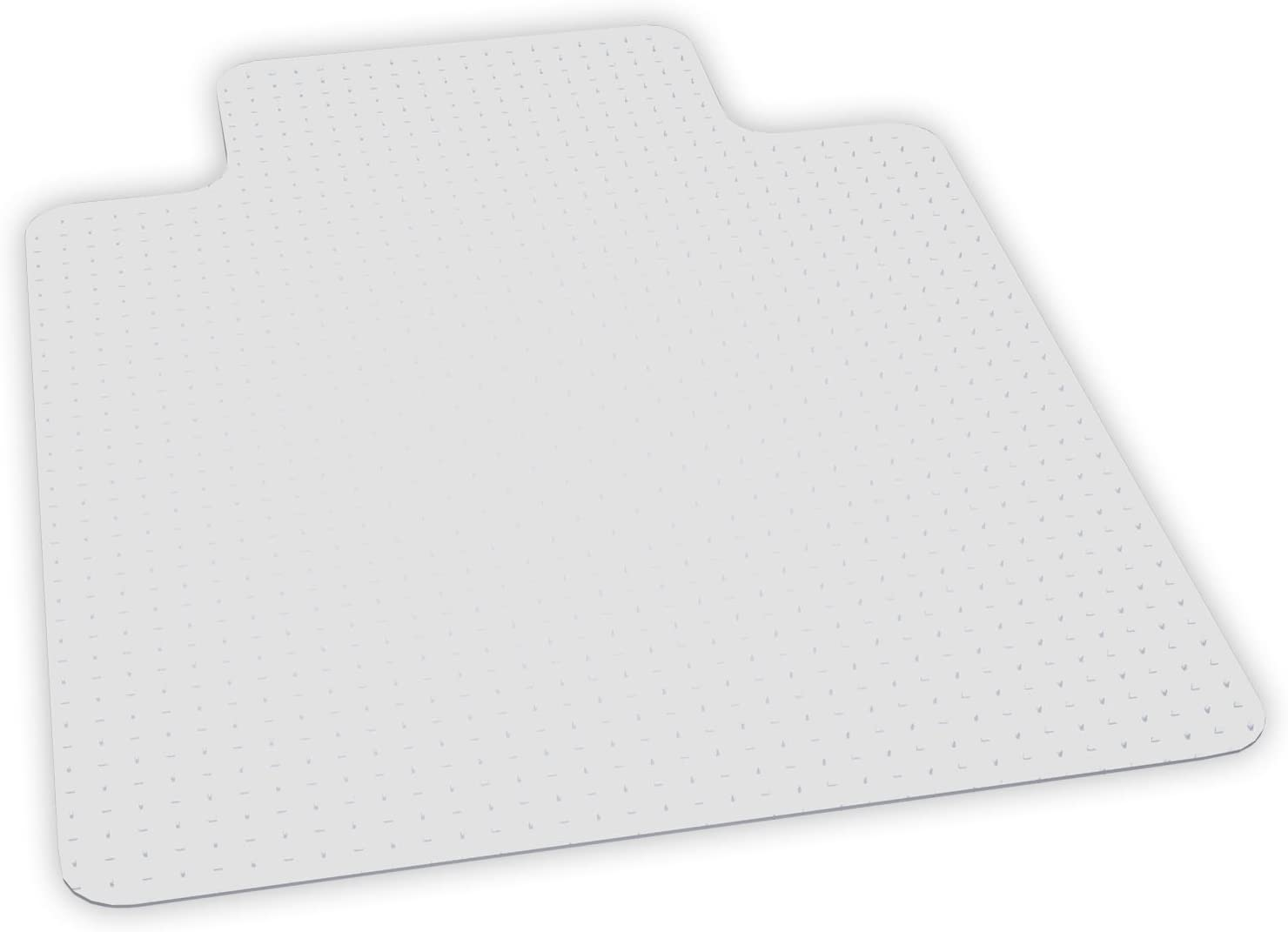 ES Robbins EverLife Anchor Bar Lipped Vinyl Chair Mat for High Pile Carpet, 46 by 60-Inch, Clear