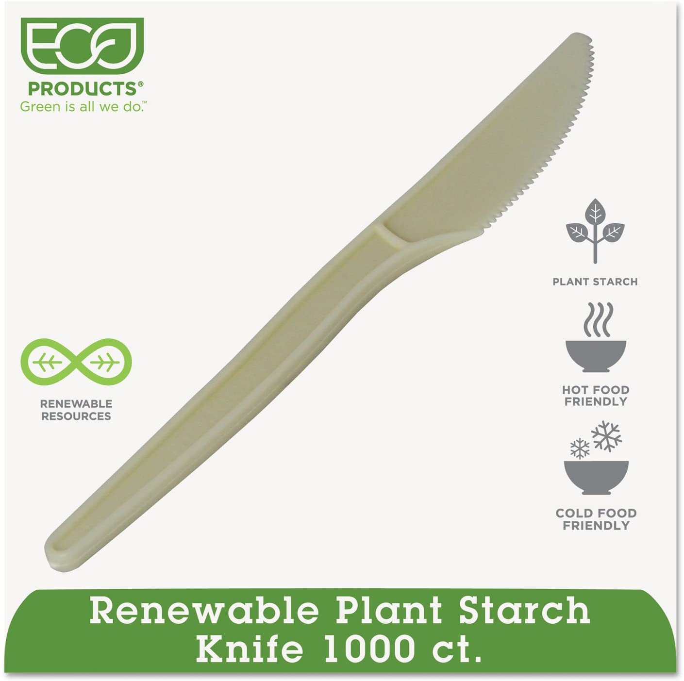 Plant Starch Knife, Cream, 50/Pack