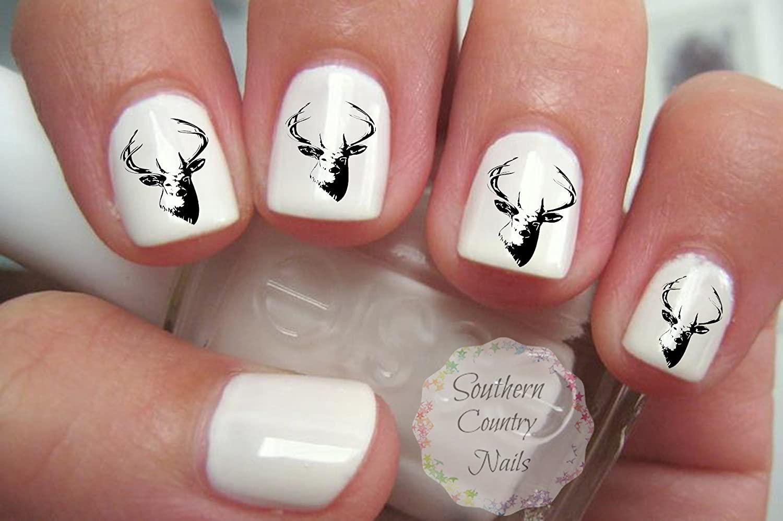 Deer Nail Art Decals Gorgeous 20pcs