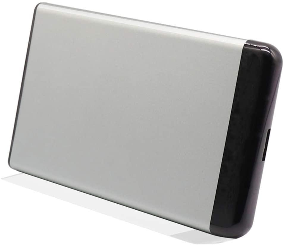 Denpetec 500GB/1TB/2TB, External Hard Drive Portable HDD – Grey, Blue, Red, White USB 3.0 for PC Laptop