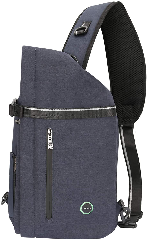 JOCHUI Sling Backpack, Sling Bag Crossbody Bags for Men Women Travel Backpack Chest Shoulder Backpack Crossbody Purses