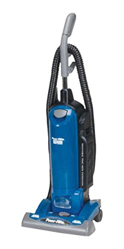 Powr-Flite PF82HF HEPA Commercial Single Motor Upright Vacuum with On-Board Tools, 15