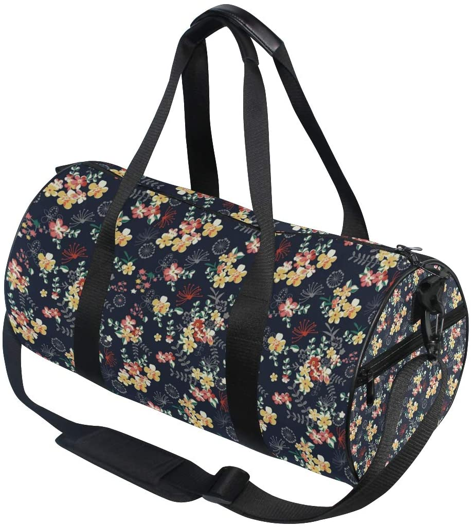Floral Travel Duffle Bag Sports Luggage Bag with Backpack Tote Gym Bag for Man and Women