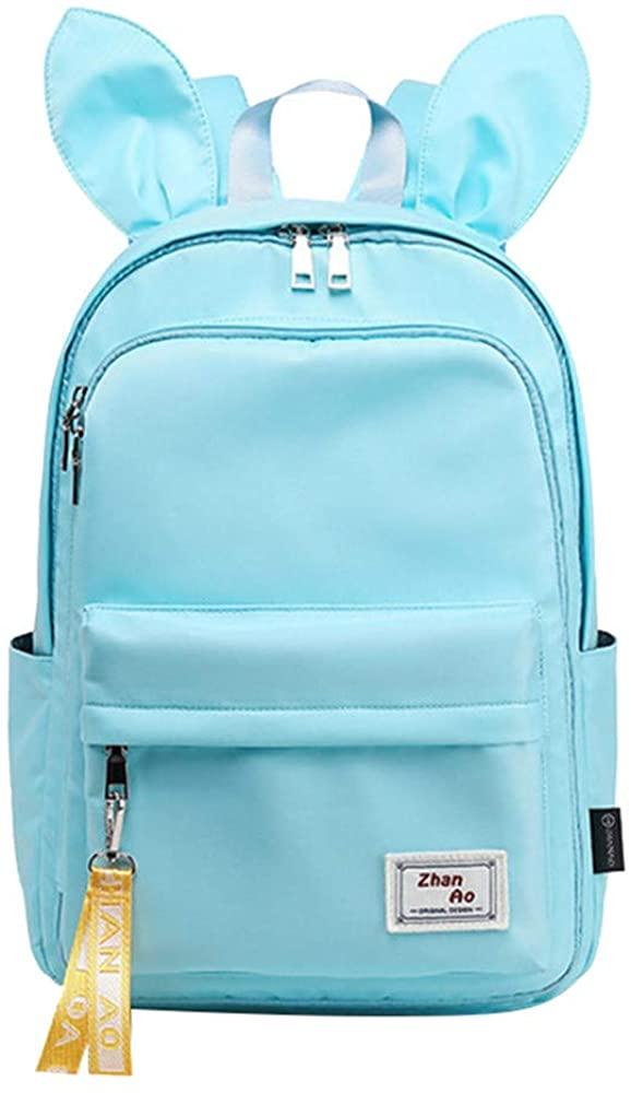 MITOWERMI Cute Rabbit Ears Elementary School Backpack Bookbag Women Laptop Rucksack for Girls