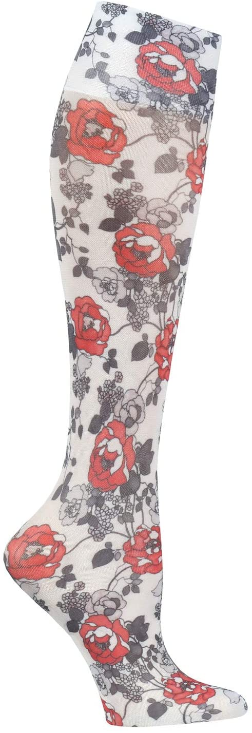 Celeste Stein Womens Mild Compression Knee High Stockings - Knockout Roses