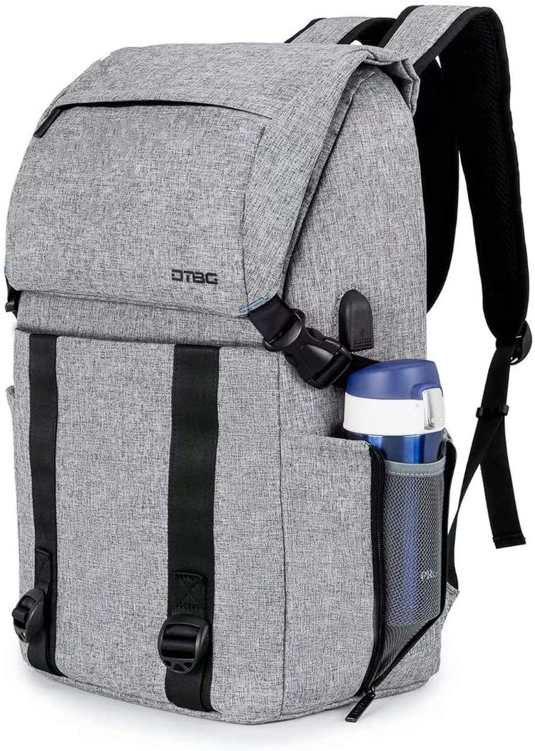 DTBG Travel Backpack Nylon Laptop Backpack Professional Business Backpack–Hiking Slim Bookbag Water-resistant Daypack Casual Rucksack With USB Charging Port Fit 17.3 Inch Laptop for Men Women