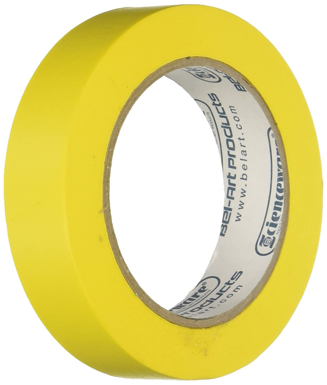 Bel-Art Products F13485-0100 Yellow Write-On Label Tape, 1