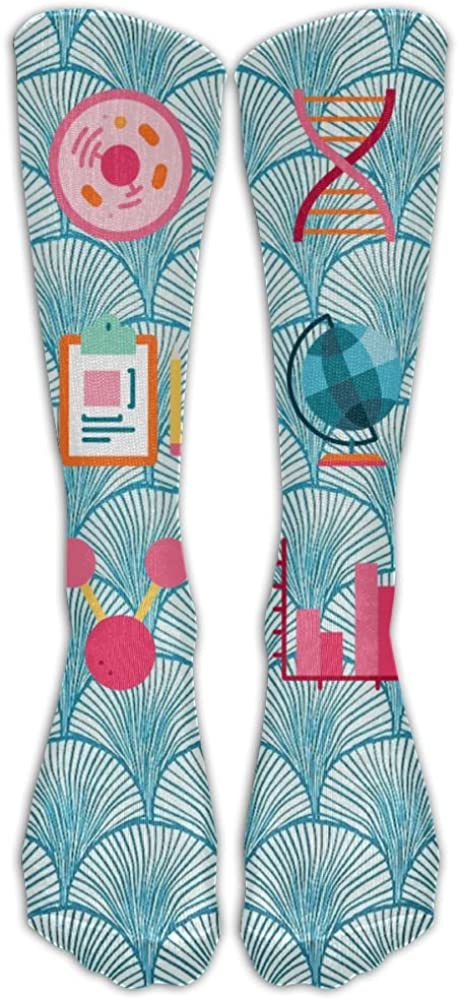 NEW I Love Science Socks, TO-JP Fashion Novelty Cosplay Long Tube Compression Stockings