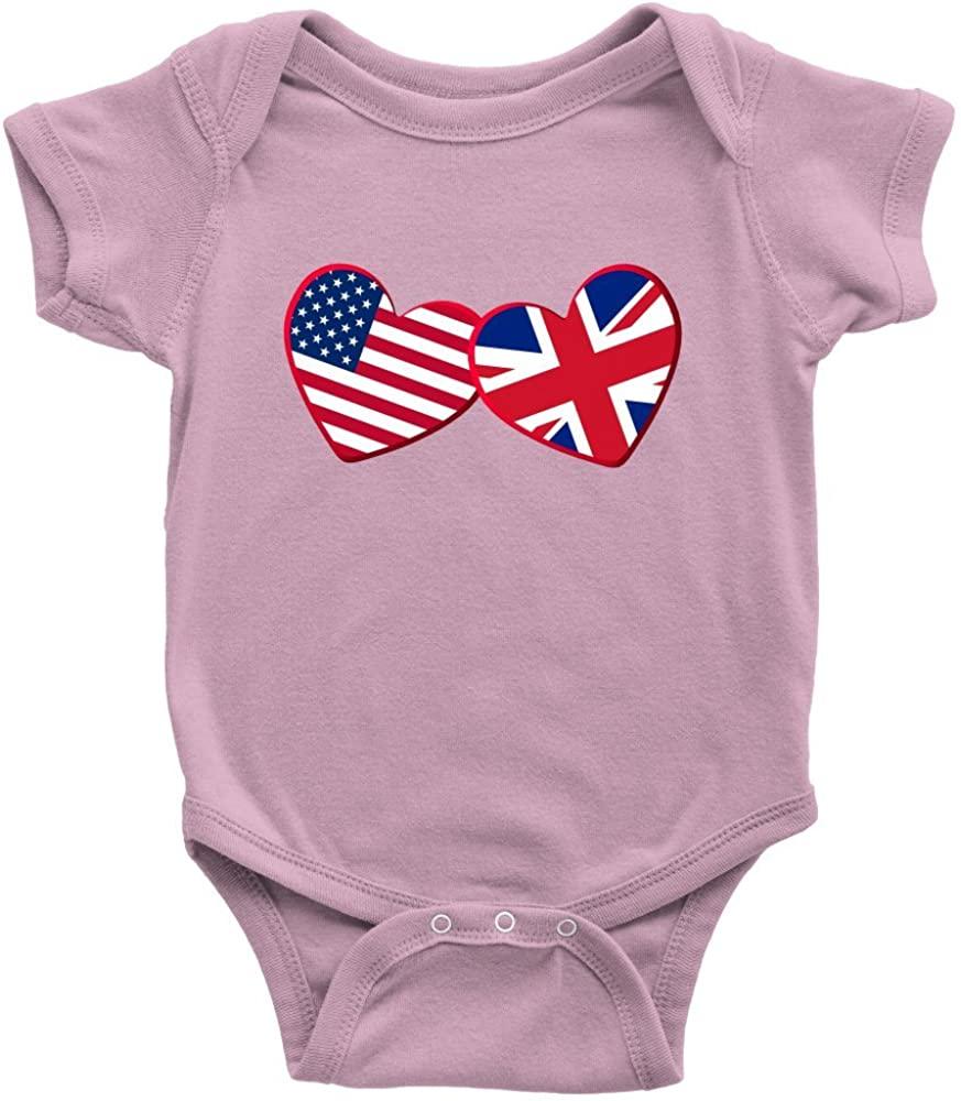 Teelaunch British and American - Infant Bodysuit Baby Romper