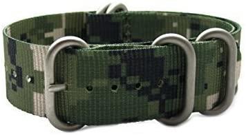 HNS ZULUPATH 20mm Camouflage Desert Ballistic Nylon Watch Strap Matt Ring ZU043