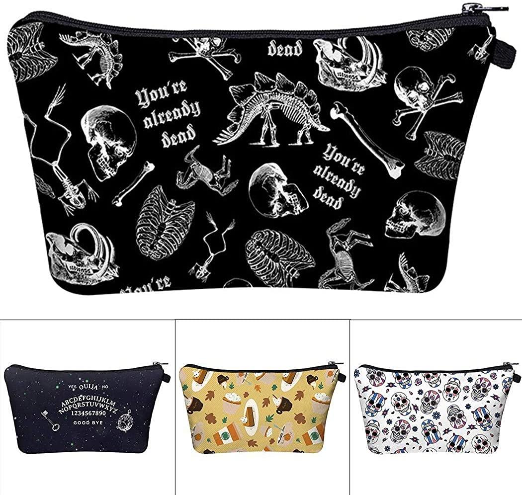 Justew New Women Travel Halloween Washing Storage Bag Cosmetic Bags Cosmetic Bag