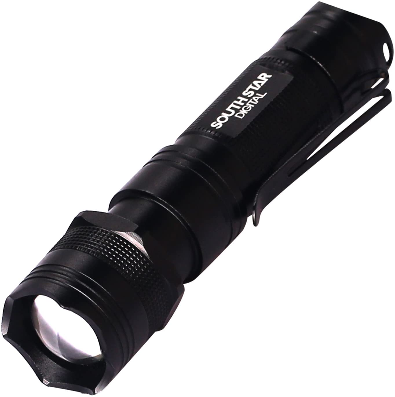 SOUTHSTARDIGITAL Tactical Flashlights LED Flashlight 3 Mode 130 Lumen EDC Adjustable Focus Zoom Light Lamp Powered by One AA Battery(NOT Include Battery)