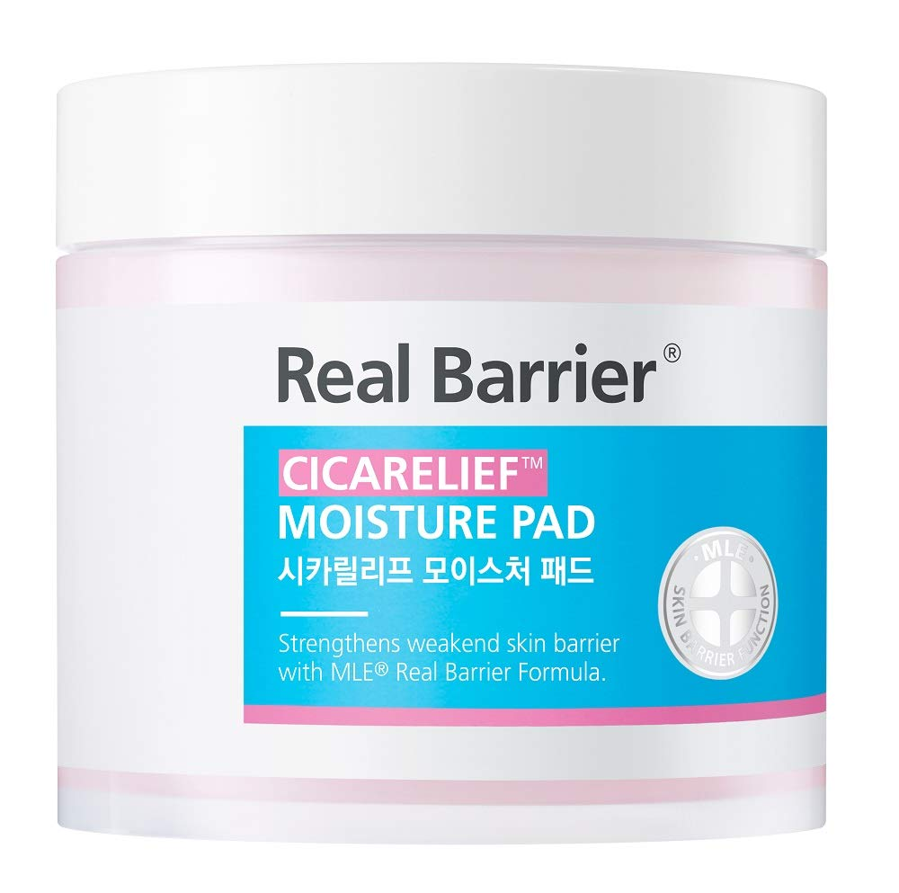 Real Barrier Cicarelief Moisture Pad for Dry and Sensitive Skin 60Pads (150ml, 5.07 Fl Oz)