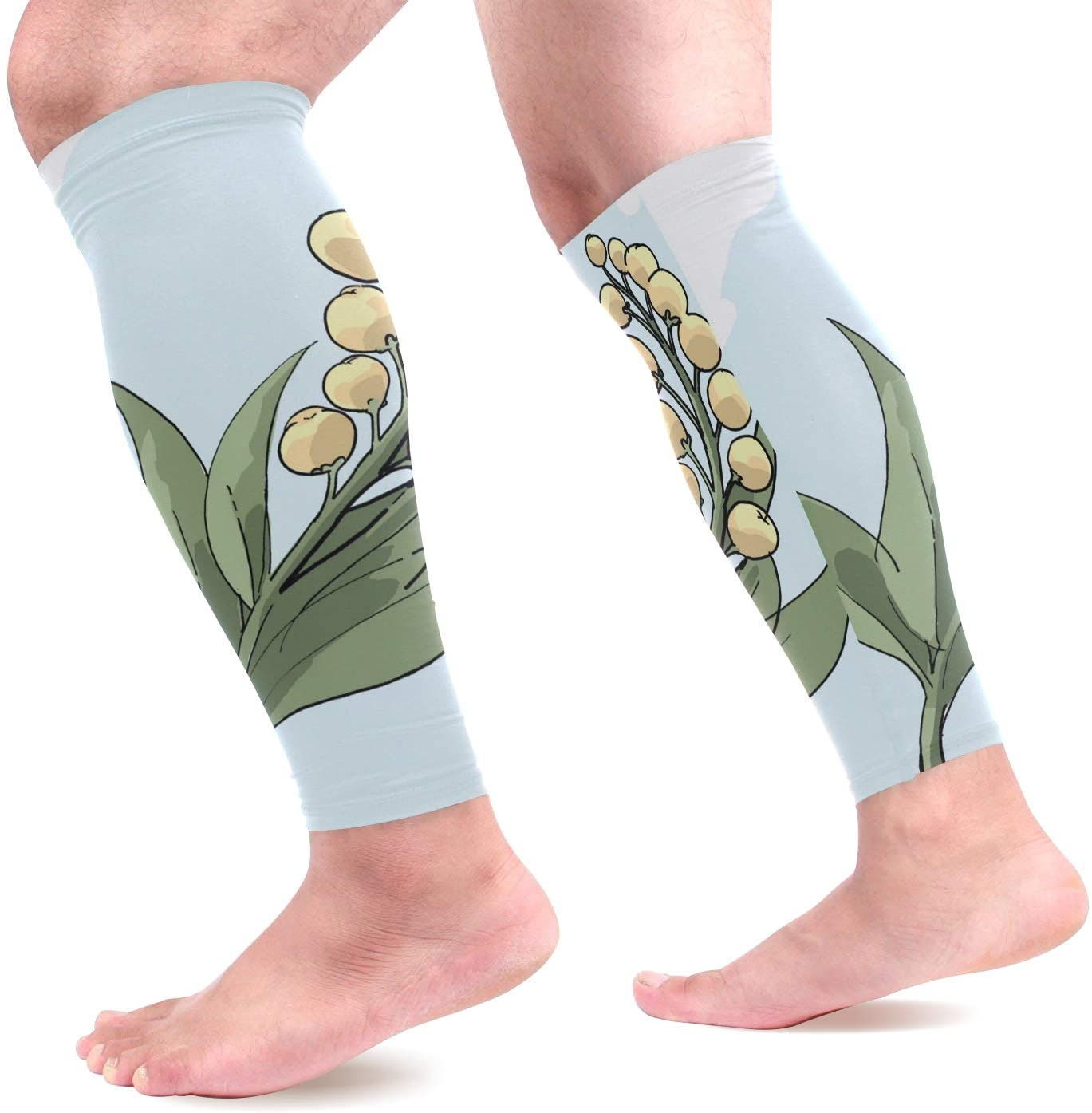 Calf Compression Sleeves A Tropical Fruit Leg Compression Socks for Runners, Shin Splint, Varicose Vein & Calf Pain Relief - Calf Guard for Running, Cycling, Maternity, Travel, Nurses Women