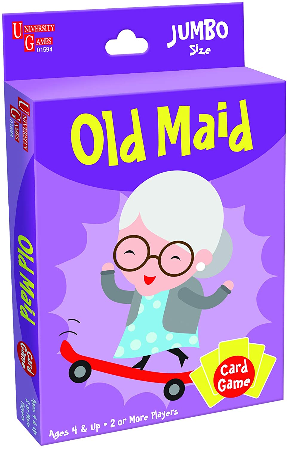 University Games 1407 Old Maid Card Game, Jumbo Size