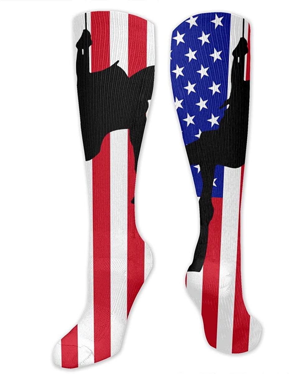 Rescue Swimmer Flag Athletic Socks Thigh Stockings Over Knee Leg High Socks