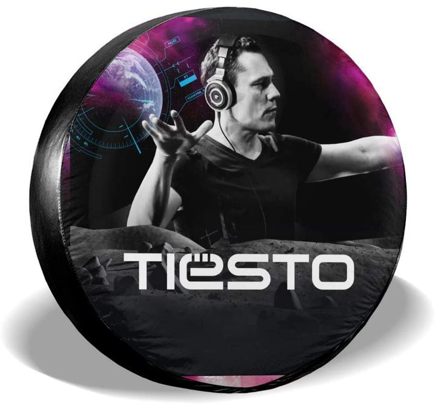 Qwertyi Dj Tiesto Tire Cover Universal Spare Wheel Fo Camper Travel Trailer