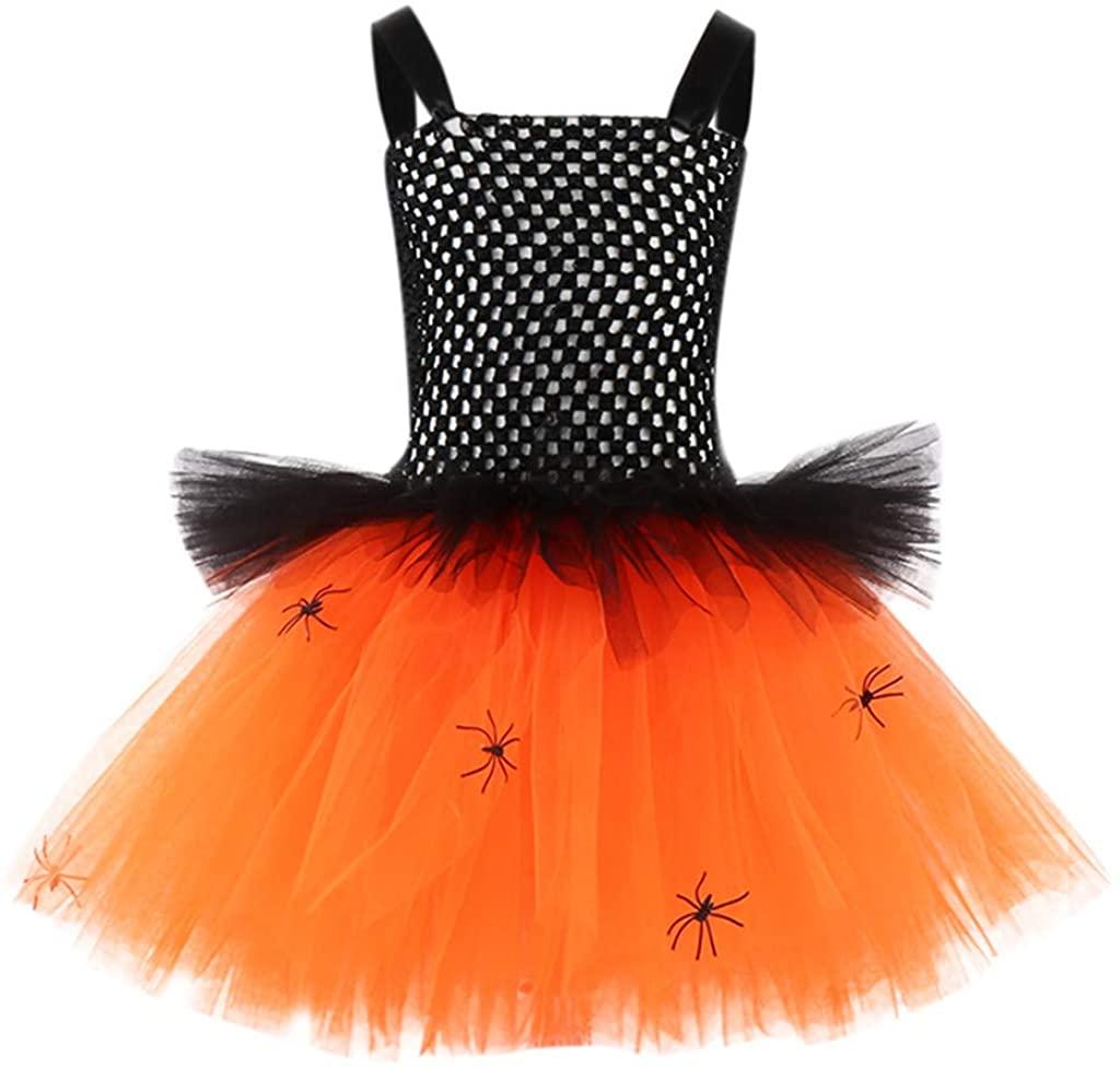 ZEFOTIM Halloween Dresses, Toddler Kids Baby Girls Halloween Clothes Sleeveless Tulle Party Princess Dress