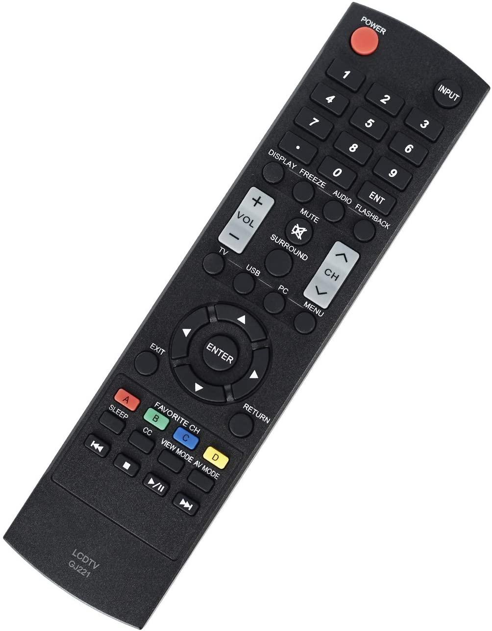 New GJ221 Remote Control Work for Sharp LED HDTV LC-32LE653U LC-40LE653U LC-43LE653U LC-48LE653U LC-55LE653U LC-65LE645U LC-65LE653U LC-65LE654U
