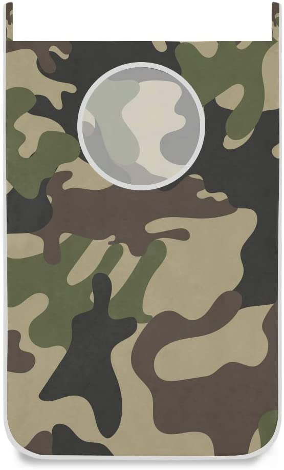 Double Joy Simple Camouflage Print 20x29.5 Inch x2 Laundry Baskets for Storage Easy to Open Clothes Bag Laundry Laundry Hampers Collapsible