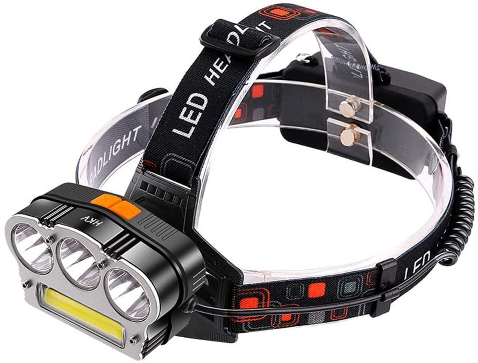 Titop 7 Switch Modes Led Headlight for Camping USB Headlamp 6000 Lumen 3X XM-L T6 COB LED Head Lamp Flashlight Waterproof LED Head Lights