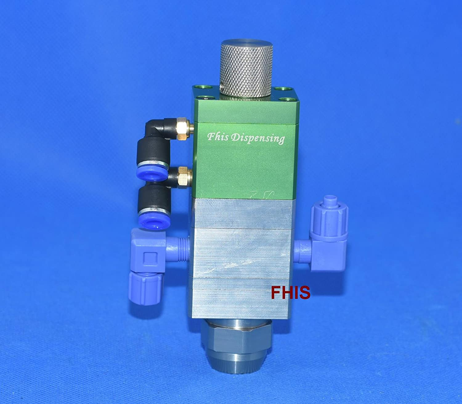 Single cylinder two fluid suction adjustable ABS double liquid dispensing valve double rubber mixing valve 1: 1