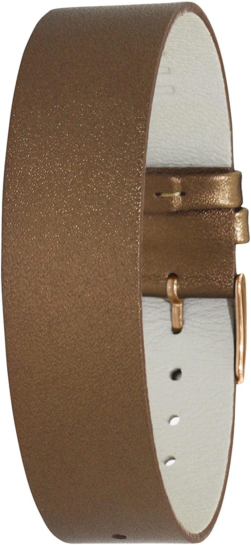 Moog Paris Brown Calf Leather Bracelet for Women, Pin Clasp, 18mm Band